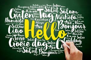 """Das Wort """"Hallo"""" in vielen Sprachen"""
